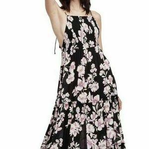 Free People Garden Party  Maxi Dress SZ S Black